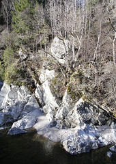 Garry River rock formations (Gordon Haws) Tags: perthshire riverbed struan rivergarry calvine blairatholl hydroelectricity garryriver