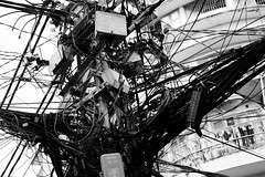 Electricity Pylon Chaos in Ho Chi Minh City (Saigon) (Jtanner644) Tags: city wiring chaos telephone cable pylon chi wires electricity ho minh saigon lao ngu pham