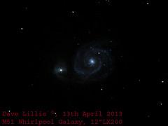 M51_13Apr2013 (Dave Lillis) Tags: irishastronomy shannonsideastronomy