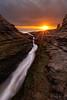 The Divide (Willie Huang Photo) Tags: ocean sunset santacruz seascape beach nature pacific scenic crack davenport hwy1 davenportbeach davenportcrack