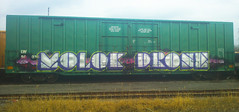 Molok * Drone (Makes No Sense!) Tags: railroad canada train painting graffiti graf moloko tags spraypaint boxcar panels graff hopper peices railfan bombing molok boxcars dro wholecars hoppers csx freighttrain freights autorack rollingstock drone grandtrunk reefers benched benching droneone molk droner endtoends
