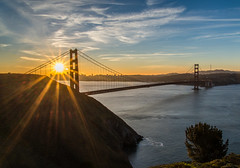 A Golden Sunrise (Eric Dugan) Tags: sanfrancisco california sunrise coast nikon goldengatebridge marincounty marinheadlands goldenhour d600
