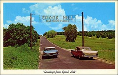Spook Hill Lake Wales Florida (1950sUnlimited) Tags: travel vacation tourism hotel interior lakes landmarks motel roadtrips villages cocktail postcards leisure roadside poolside resorts midcentury cottages swimmingpools lobbies golfcourses lounges