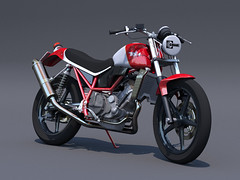 BSA Victor 441 (xyzr) Tags: street bike engine victor frame motorcycle 441 racer bsa roadracing cheetah3d