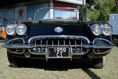 Black Corvette 2 (Ashley The Hoff) Tags: film minolta kodak scanner epson corvette portra clipsal500 rokkor v700 vuescan