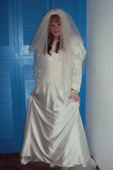 Happy bride (Felicia Colette) Tags: veil cd gloves transvestite weddingdress crossdresser bridalgown tgurl tbride