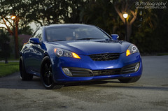 Hyundai Genesis Coupe 3.8L (Brett Levin Photography) Tags: car night racecar shoot porn genesis hyundai coupe customcar carporn shoow 38l