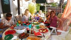 Enjoying a Feast! (Gabriele B) Tags: birthday home gabi dorothy susan gina debra celeste mimma