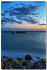 20 Minutes After Sunset (Fraggle Red) Tags: statepark clouds evening pier twilight rocks florida dusk hdr aftersunset bocagrande oldpier leeco gasparillaisland 7exp canonef1635mmf28liiusm gasparillaislandstatepark dphdr