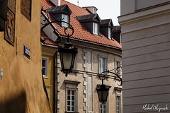 Street lamps on Jesuit Street (Micha Olszewski) Tags: lamp architecture europe streetlamp poland land warsaw warszawa mazowsze architecturalfeature rynekstaregomiasta uljezuicka masovianvoivodeship staremiastotheoldtown