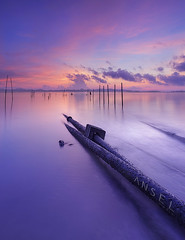 Polar Attraction (draken413o) Tags: pink panorama beach beautiful sunrise singapore long exposure colours coastal lee filters hue pasir waterscape ris waterscapes