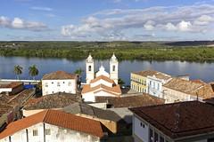 Vista Area da Igreja de Nossa Senhora da Corrente - Penedo, Alagoas (Francisco Arago) Tags: trees brazil sky church latinamerica southamerica rio horizontal brasil cloud