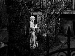 Day 122 Religious Gardens of Jersey City (chris langston photography) Tags: blackandwhite canon garden religious newjersey jerseycity 28mm jesus olympus christian nik manualfocus omd day122 fd em5 365project legacylens micro43rd silverefexpro2