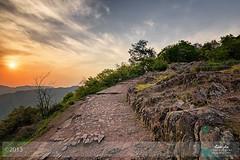 Way up and around (Wuyun Mountain - Hangzhou) (Andy Brandl (PhotonMix.com)) Tags: china sunset sky sun mountains nature beauty clouds nikon rocks hiking path stones hangzhou serene rough rugged upwards d800 zhejiang 2013 photonmix laoanphotography