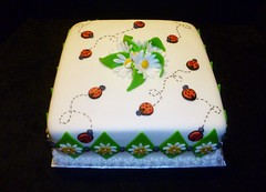 Ladybug Cake by Yvonne C. www.birthdaycakes4free.com Twin Cities, MN