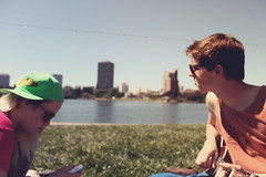 Summers in the Park (johnjohnbobon) Tags: park friends summer me oakland picnic roommates good heather lakemerritt times noelle merritt beernic