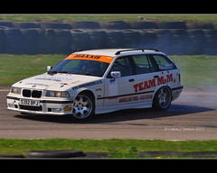 Drifting...........! (Colin J Spence Photos) Tags: car race speed bmw tyre drifting drift skid lydden