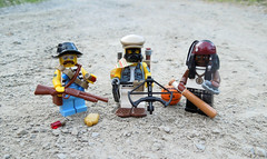 Who Survives? (.Bricko) Tags: lego apocalypse minifig shotgun crossbow apoc baseballbat figbarf