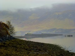 Scenic Scotland (Rollingstone1) Tags: panorama plants cloud mist mountains skye beach nature water clouds landscape coast scotland haze colours isleofskye scottish escocia shore isle portree bouys flaura schottland beachscene ecosse naturescene scottishtown