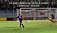 """Education postcard: """"Clear learning goals make learning easier"""""""