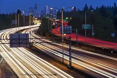 Curves Don't Lie (Stephen Kacirek) Tags: seattle longexposure nightphotography curves lighttrails bluehour seattleskyline interstate5 d600 nikond600 seattlebluehour
