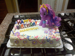 My Little Pony Cake by Cathy P, Santa Cruz CA, www.birthdaycakes4free.com