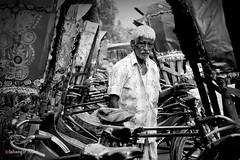 Rickshaw puller (jalam@machizo.com) Tags: rickshaw puller pepole poetrate bangladesh color worker life travel