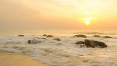 Bright & Sunny (sakthi vinodhini) Tags: cwc540 beach kovalam sun sand sunrise serene morning bright rocks