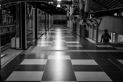 Am I alone? (sydbad) Tags: amialone bukit bintang monorail station street photography ilce6000 sel35f28z blackandwhite