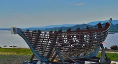 Building a wood boat on the waterfront at Annapolis Royal, Nova Scotia (bluenosersullivan) Tags: novascotia atlanticcanada bayoffundy annapolisroyal annapolisbasin waterfront boatbuilding woodboat davesullivan can