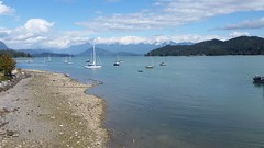 Beachcombers (bottledale999) Tags: pacific ocean coast water beach summer gibsons landscape view scenic beauty beautiful bc vancouver sail boats blue sky keats island gulf sailing clouds seascape beachcombers