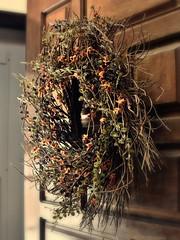 New Wreath (It Sure Feels Like Fall, Love It!!!) Tags: wreath door fall sparce sticks orange leaves