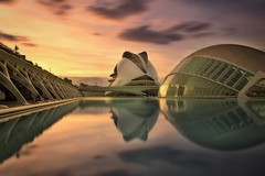 Another world (Anto Camacho) Tags: valencia cac calatrava buildings cityscape cityandarchitecture longexpoure bigstopper reflections reflejos sunset atardecer