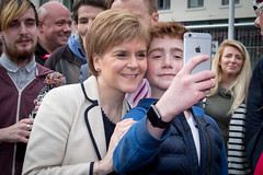 Homeless World Cup 2016, George Square, Glasgow, Scotland - 12 July 2016 (Homeless World Cup Official) Tags: hwc2016 homelessworldcup aballcanchangetheworld thisgameisreal streetsoccer glasgow soccer nicolasturgeon fan selfie scotland
