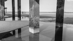 friendship (babs van beieren) Tags: friendship friends blackandwhite beach reflections sea people brilliant wow