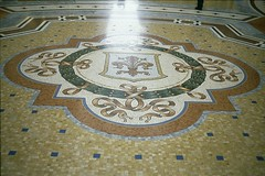 Milan, Italy (The Old Pharaoh) Tags: milan italy floor art decoration marble arcade film slide reversalfilm analoguephotography transparency analogue pattern