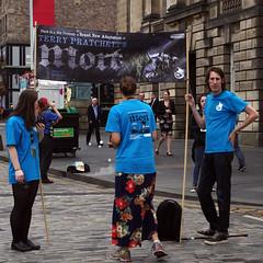 Death's Apprentices (MalB) Tags: edinburgh terrypratchett mort duckinahattheatre festival fringe royalmile scotland pentax k5