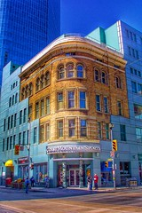 The Old Woolworth Building ~ Yonge & Queen St ~ Toronto Ontario Canada ~  Facade  Saved ~ 1895 (Onasill ~ Bill Badzo) Tags: coast mountain sports chek yongequeen fw woolworths 1895 downtown facade easton centre onasill knox buffalo owner restored tower record superstore heritage historic landmark toronto on ont canada condo complex condominium commercial store 510 first