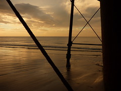 Saltburn Pier (davidntaylor1968) Tags: sea horizonoverwater water scenics sunset tranquilscene beach tranquility idyllic beautyinnature sky majestic nature shore cloudsky nonurbanscene cloud calm remote vacations coastline sunsetcollection beachphotography showcaseseptember potd
