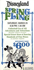 Disneyland Spring Fling, 1969 (Tom Simpson) Tags: disney vintagedisney disneyland dance springfling 1969 1960s ticket vintagedisneyland