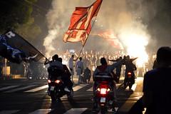 002 (Sofija Neskovic) Tags: serbia belgrade redstar footbal fans celebration street