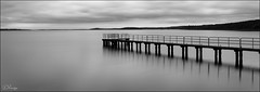 Silence (Donna Rowley) Tags: fermanagh leitrim ireland lough lake water pier jetty quay mono blackandwhite bw tranquil calm quiet silence sea landscape sky clouds waterscape monochrome outdoor supershot scenic