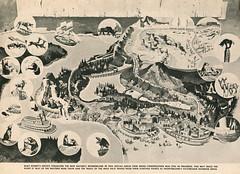Vacationland, Summer 1960 07 - The New Nature's Wonderland Concept Art (Tom Simpson) Tags: vacationland vintage 1960 1960s disney vintagedisney disneyland natureswonderland minetrainthroughnatureswonderland frontierland map