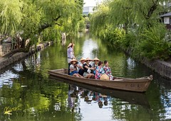 Kurashiki Boat Ride (Kostas Trovas) Tags: tradition composition kostasimages reflection kurashiki canon flickr light capture instagram  scenery beautiful yukata exposure photography boat focus green river travel japan traditional