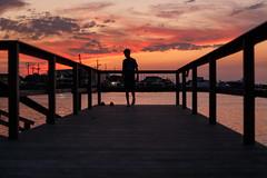 The end of the dock (ranzino) Tags: jacob newjersey stoneharbor sunset bay bayside dock dusk nj silhouette vacation unitedstates us