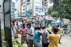 H504_3545 (bandashing) Tags: amborkhana market rickshaw people stalls vegetable vendors street fight scuffle men kickoff violence junction amborkhanapoint punch grab sylhet manchester england bangladesh bandashing aoa socialdocumentary akhtarowaisahmed