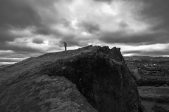 Playing Phone at Edge of Cliff (danliecheng) Tags: edinburgh holyroodpark salisburycrags artistic cliff clouds edge hair handphone hiking landscape mobilephone nature outdoor park people sky smartphone travel weather wind