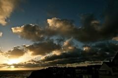 Cloud Cover (bimbler2009) Tags: sonyalphaa900 cloud outdoor sky sunset clouds sea movement ocean urban landscape silhouette