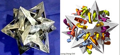 Hollowed out small stellated dodecahedron (Leong, Cheng Chit) Tags: escher smallstellateddodecahedron modular gravitation