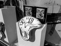 Time after time (Pierrot 49) Tags: blackandwhite blackandwhiteonly noiretblanc art clock monochrome